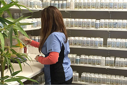 Chinese herbal pharmacy at Eastern Healing Solutions in Overland Park, KS.